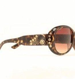 M & F Sunglasses - Spur Rowel Crystal BK