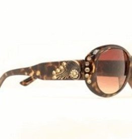 M & F Western Products Sunglasses - Spur Rowel Crystal BK