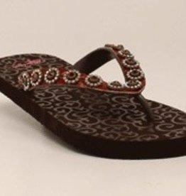 M & F Western Products Women's 1/2 Flat Flip Flops