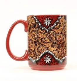 M & F Western Products Coffee Mug - Tooled/Rowel