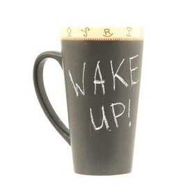 Double Barrel Coffee Mug - Chalk Message Mug (Chalk Included, but coffee not included)