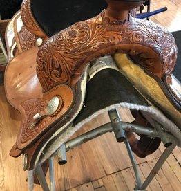 "Circle Y of Yoakum Circle Y Show Saddle, Reg Bars, 14.5"" Seat"