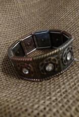AWST International Bracelet - Mixed Metal Stretch Horseshoes