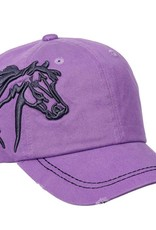 AWST International Lavender Distressed 3D Horse Head Ball Cap
