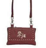AWST International Handbag - Brown Cross Body Galloping Horse