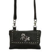 AWST International Handbag - Black Cross Body Galloping Horse