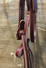 Circle L Circle L Rattlesnake Headstall, Oiled, U.S.A. Made - Horse Size