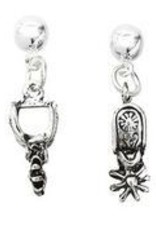 AWST International Earrings - Western Spur w/Hat Gift Box