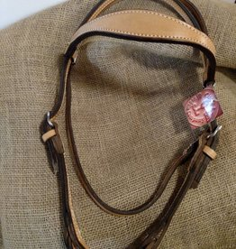 Circle L Circle L Headstall, Light Oil, Double Ply, w/Quick Release Bit, U.S.A. Made - Horse Size