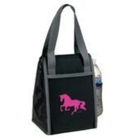 AWST International Lunch Bag -- Black w/Pink Galloping Horse