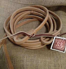 "Circle L Circle L Split Leather Reins, Tie Ends, L.Oil, U.S.A. - 5/8""x8'"
