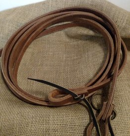 "Circle L Circle L Split Leather Reins, Tie Ends, D.Oil, Dipped in Oil! U.S.A. - 5/8""x8'"