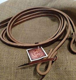 """Circle L Circle L Split Leather Reins, Tie Ends, D.Oil, U.S.A. - 1/2""""x8'"""