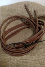 "Circle L Circle L Split Leather Reins, Tie Ends, D.Oil, Dipped in Oil! U.S.A. - 1/2""x8'"