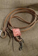 "Circle L Circle L Game Reins, Leather, L.Oil, Tie End & Snap - 1/2""x7'"