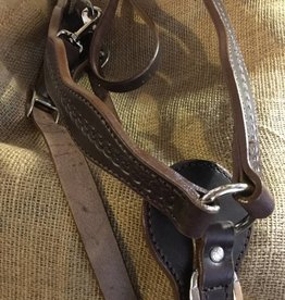 Circle L Circle L Scalloped Breast Collar, U.S.A. Made - Horse Size D.Oil Rope Tooled