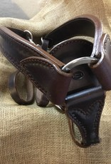 Circle L Circle L Breast Collar, U.S.A. Made - Horse Size Dk.Oil Shell Tooled