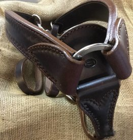 Circle L Circle L Breast Collar, D.Oil, Shell Embossed, U.S.A. Made - Horse Size