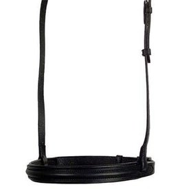 Smith Worthington Saddlery Padded, Raised Noseband w/Flash Black Horse