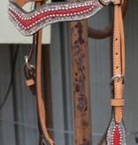 Alamo Saddlery Alamo Headstall Red Elephant w/ Zag