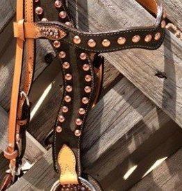 Alamo Alamo Headstall & Breast Collar Set - Large Spotted w/ Center Plate