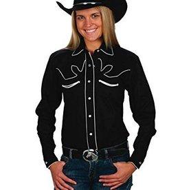 Western Express Women's Retro Western Shirt, Black/White, X-Large - Reg $43.95 @ 50% OFF!