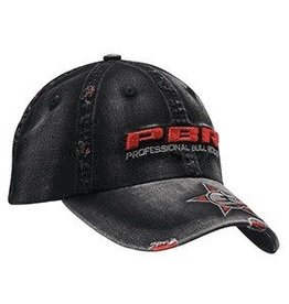 PBR PBR Black Distressed Ball Cap