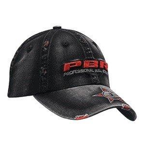 PBR PBR Black Distressed Ball Cap - Gass Horse Supply   Western Wear b93763424ff