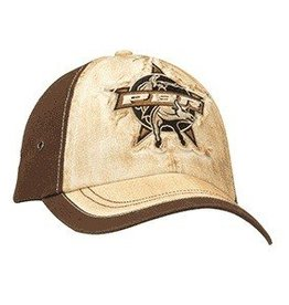 PBR PBR Tan & Brown Distressed Ball Cap