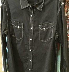 Outback Trading Company LTD Women's Outback Haze Western Shirt, Black, X-Large - Reg $36.95 @ 50%