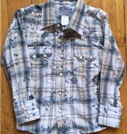Rockmount Ranch Wear Children's Rockmount Eyelet Blue Plaid Western Shirt, Medium Only - $73.95 @ 60% OFF!