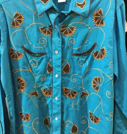 Rockmount Ranch Wear Women's Rockmount Vintage Shirt - Turquoise, XX-Large $63.95 @ 50% OFF