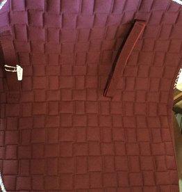 English Riding Supply Centaur AP Fashion Pad Burgundy
