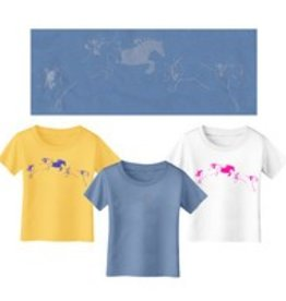 Whimsical Horse Blue T-Shirt