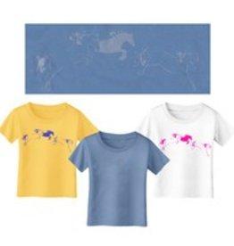 Whimsical Horse Blue T-Shirt