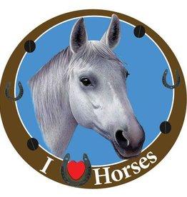 GT Reid Car Magnet: Grey Horse Horse/Grey