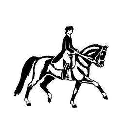 GT Reid Dressage Horse Vinyl Decal White 3.5