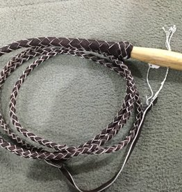 Lamprey 6 Foot Braided Leather Bull Whip