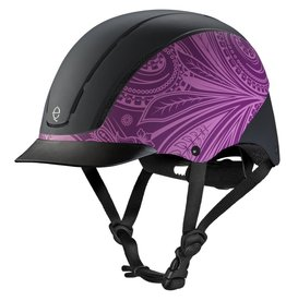 Troxel Helmet Company Troxel Spirit, Purple Boho, All Purpose Helmet - Medium