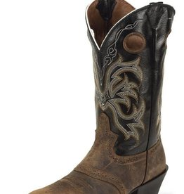 Justin Western Men's Justin Tan Distressed Buffalo - Rolliker Tan