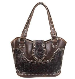 WEX Handbag - Concealed Carry Floral Tooling w/ Studs
