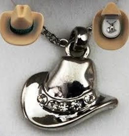 AWST Necklace - Cowboy Hat