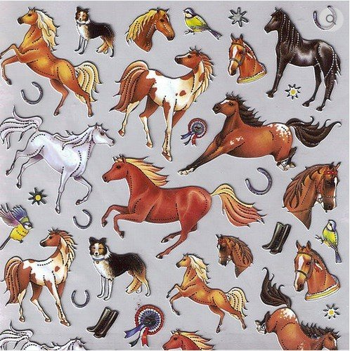 AWST International Stickers - Different Horse Breeds