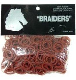 "Intrepid International Braiders"" Braid Bands chestnut 500/bag"