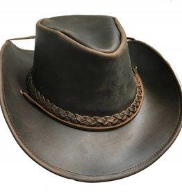 Denali Leather Cowboy Hat, Brown