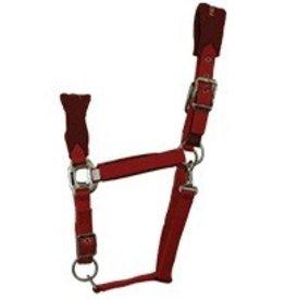 Partrade Trading Company, LLC Mirage Padded Fleece Breakaway Halter, Red - Horse