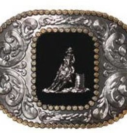 Western Fashion Accessories Barrel Racer Buckle - w/Engraved Edges