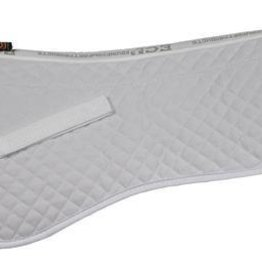 "ECP 100% Sheepskin Halfpad, Cream - Medium for 16.5"" to 17.5"" Saddles"