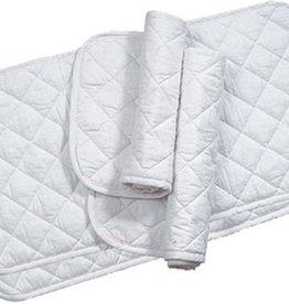 """Lamprey Equine Textiles Quilts White 14"""" (4/set)"""