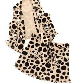 M & F Western Products Children's Vest/Skirt Blk/Wh